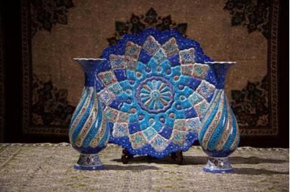 异彩纷呈的伊朗米娜铜胎画珐琅