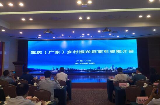 渝西国际领导一行赴广州乡村振兴招商引资推介会